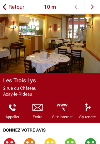 azay le rideau tour mobitour application web mobile. Black Bedroom Furniture Sets. Home Design Ideas